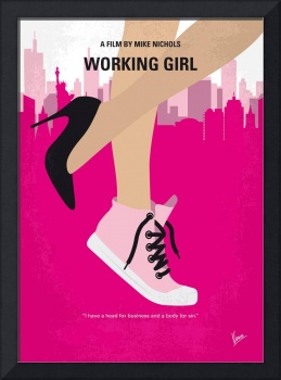 No987 My Working Girl minimal movie poster