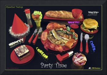Party Time  Red - Appetizer Designs