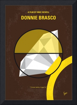 No766 My Donnie Brasco minimal movie poster
