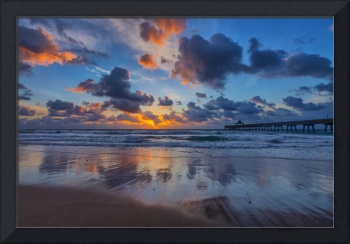 Sunrise Reflections and a Pier