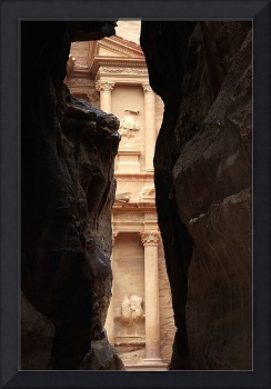 Petra-The Treasury As Seen From the Siq 1208