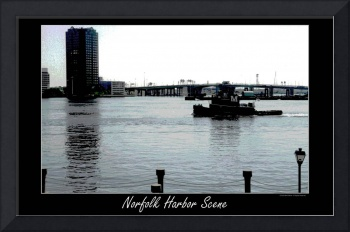 Norfolk Harbor digital art