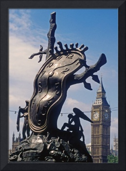 Dali Statue and Big Ben