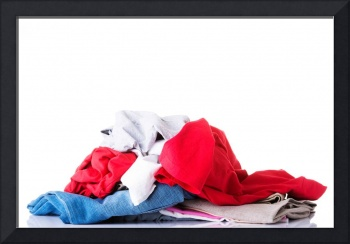 Clothing mess isolated on white