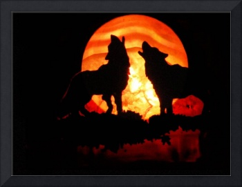 Wolves n Red Moon