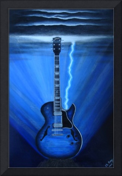 Blue Lightning Guitar