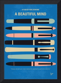 No809 My A Beautiful Mind minimal movie poster
