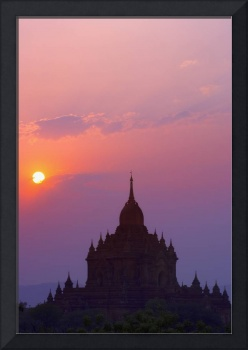 Sunrise Over Stupa Temple In Bagan, Myanmar, Burma