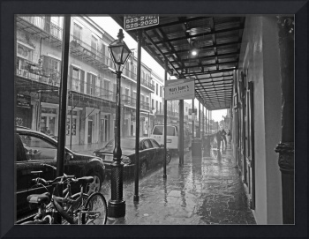 Downpour on Decatur Street, New Orleans