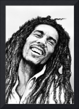 Bob Marley art drawing sketch portrait