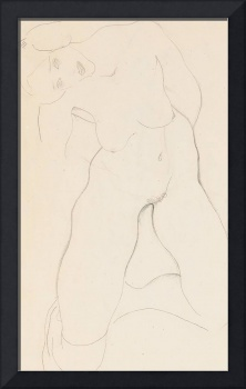 Kneeling female nude