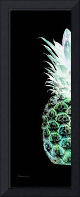 14hl Artistic Glowing Pineapple Green and Blue