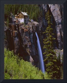Old Power Station And Bridal Veil Falls