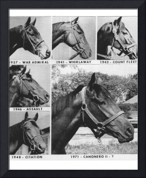 Vintage Horse Racing Head Shots War Admiral