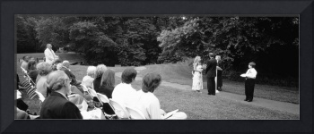 Bride standing with her groom at a wedding ceremo
