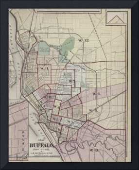 Vintage Map of Buffalo NY (1872)
