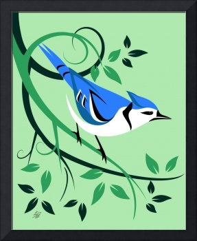 Decorative Blue Jay Art