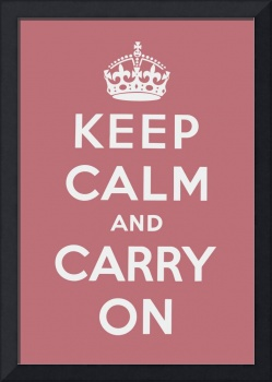 Pink Keep Calm And Carry On 2