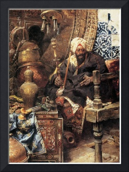 Arab Dealer Among His Antiques by Charles Bargue