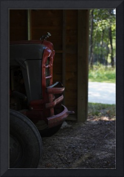Tractor in Barn at Inn at Cedar Falls by Jim Crott