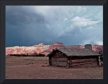 Ghost Ranch Cabin in Storm Light