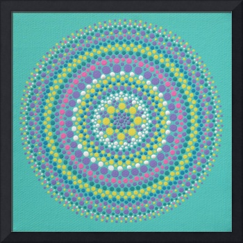 Blue-Green Mandala