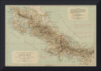 Vintage Map of Costa Rica (1896)
