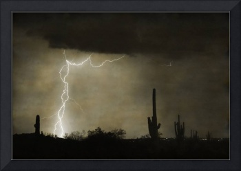 Twisted Desert Lightning Storm