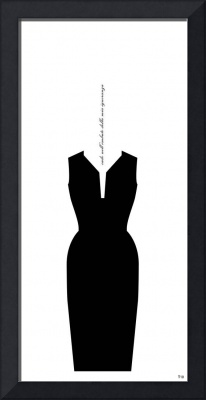 dress #22 / simple black with funnel