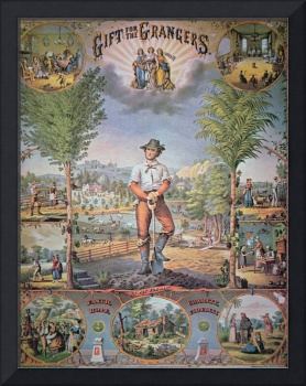 'Gift for the Grangers' Vintage Farming Poster
