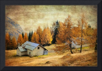 Textured Autumn Colors of Dolomites
