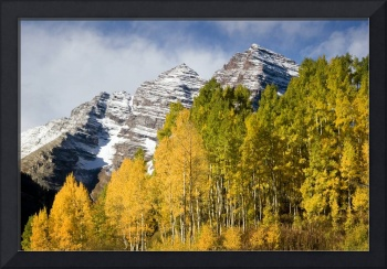 The Maroon Bells with Aspens II