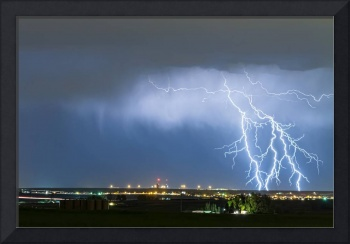Northeast Colorado Lightning Strike and City Light