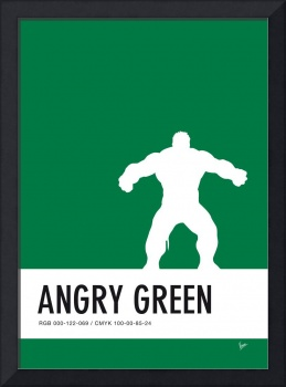 No22 My Minimal Color Code poster Hulk