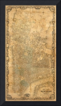 Vintage Map of New York City (1852)