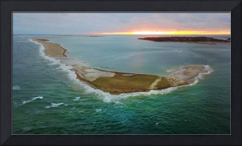 South Beach Island at Chatham, Cape Cod Aerial