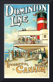 Dominion Line Liverpool to Canada Vintage 1904 Ste