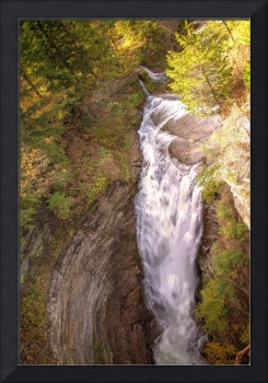 Spiraling Down The Chasm At Upper Taughannock Fall
