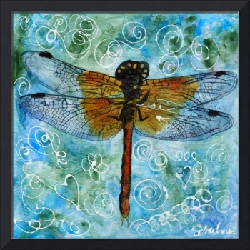 Dragonfly Dips Mint Green Chocolate Chip, Art