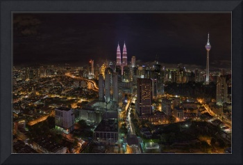 KL City Night Panorama during the Breast Cancer Aw