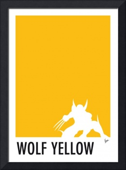 My Superhero 05 Wolf Yellow Minimal poster