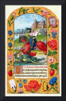 St. George and the Dragon, from a Book of Hours