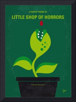 No611 My Little Shop of Horrors minimal movie post