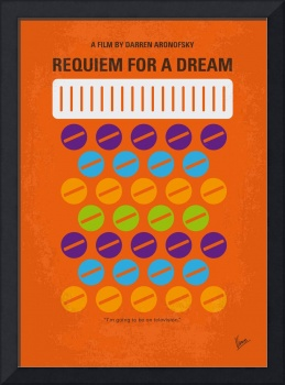 No858 My Requiem for a Dream minimal movie poster