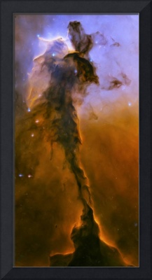 Artist's painting of the stellar spire within M16