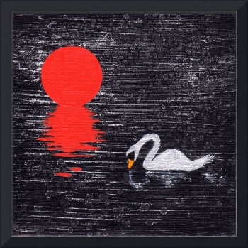 Swan Lake original painting
