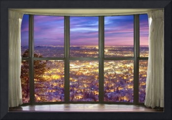 Beautiful City Lights Bay Window View