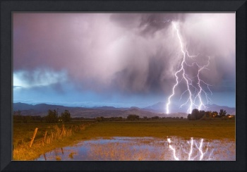 Lightning Striking Longs Peak Foothills 6