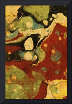 Mixed color abstract oil painting
