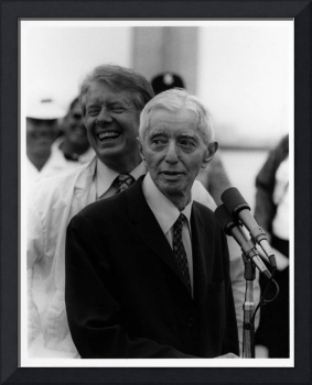 Jimmy Carter, USS Los Angeles Cruise, with Adm. Ri